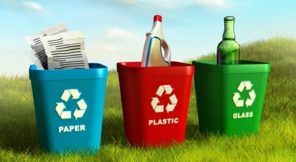 caixotes para reciclagem